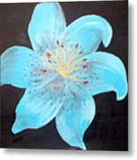 Blue Tiger Lily Metal Print