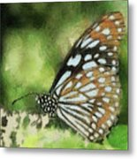 Blue Tiger Metal Print