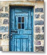 Blue Traditional Door Metal Print