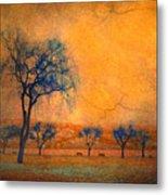 Blue Trees And Dreams Metal Print