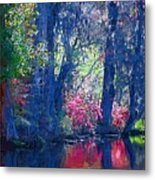 Blue Trees Metal Print