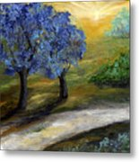 Blue Trees Metal Print by Laura Swink