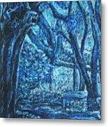 Blue Trees Metal Print by Patricia Gomez
