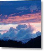 Blue Twilight Clouds Art Prints Mountain Pink Sunset Baslee Troutman Metal Print
