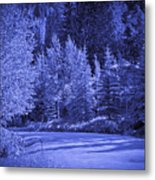 Blue Vail Metal Print