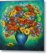Blue Vase. Metal Print