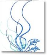 Blue Vine Metal Print