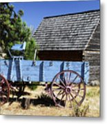 Blue Wagon Metal Print