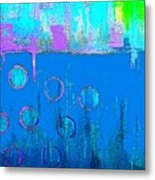 Blue Water And Sky Abstract Metal Print
