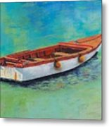 Blue Water Gem Metal Print