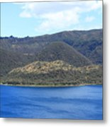 Blue Water Green Islands Metal Print