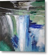 Blue Waterfalls Metal Print