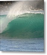 Blue Wave Maui Hawaii Metal Print