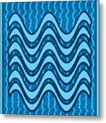 Blue Wave Over Wave Pattern On Gifts Shirts Pillows Tote Bags Phone Cases Shower Curtains Duvet Cove Metal Print