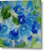 Blue Wet On Wet Metal Print