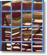 Blue Window 2 Metal Print