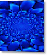 Blue Windows Abstract Metal Print