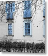 Blue Windows And Balconies Metal Print