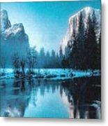 Blue Winter Fantasy. L B Metal Print