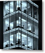 Blue Workplace Metal Print