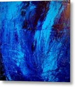 Blue Yoga Metal Print