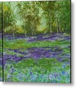 Bluebell Meadow Triptych Metal Print
