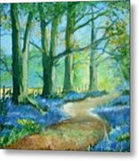 Bluebell Walk Metal Print