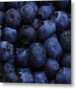 Blueberries Close-up - Vertical Metal Print