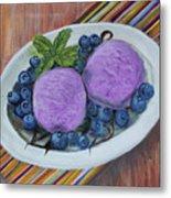 Blueberry Ice Cream Party Metal Print
