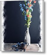 Blueberry Table Metal Print