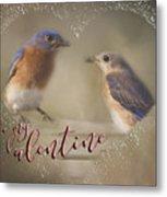 Bluebird Love Metal Print