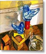 Bluebirds Of Happiness Metal Print