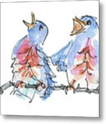 Bluebirds Singing A New Song Bd002 Metal Print