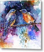 Bluebirds Metal Print