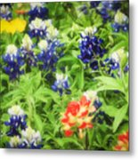 Bluebonnet Bouquet Metal Print