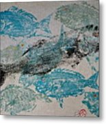 Bluefish Delight - Lunchtime  Metal Print