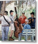 Bluegrass In The Park Metal Print by Anthony Falbo