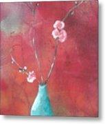 Bluegreen Vase Metal Print