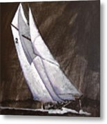 Bluenose At Night Coming Metal Print