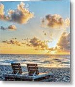 Blues And Golds Of Summer II Metal Print