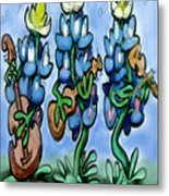 Blues Bonnets Metal Print