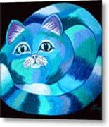 Blues Cat Metal Print