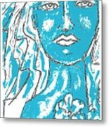 Blues Girl Metal Print