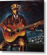 Blues Guitarist Metal Print
