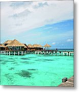 Blues In Maldivian Performance  Metal Print