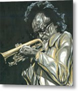 Blues Miles Metal Print