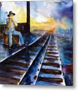 Blues On The Other Side Metal Print