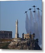 Blues Over Alcatraz Metal Print