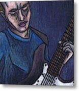 Blues Player Metal Print