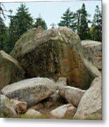 Bluff Lake Ca Boulders 3 Metal Print
